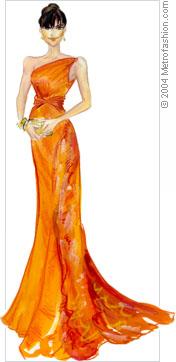 Jennifer Garner in vintage Valentio evening gown