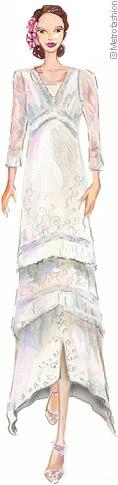 Vintage inspired wedding dress white ivory